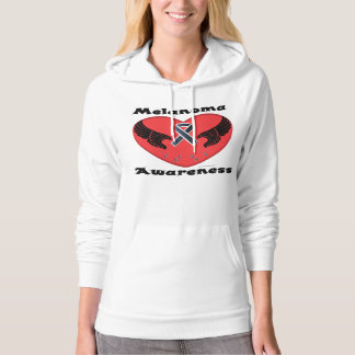 Melanoma Aware Ladies Hoodie