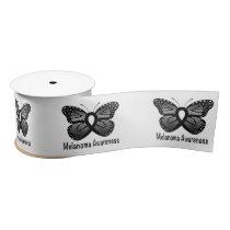 "Melanoma Awareness: Butterfly 3"" Satin Ribbon"