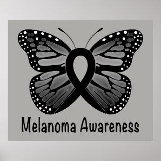 Melanoma Awareness: Butterfly Poster