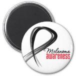 Melanoma Awareness Grunge Ribbon Refrigerator Magnet