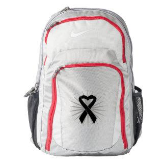 Melanoma Awareness Heart Ribbon Backpack