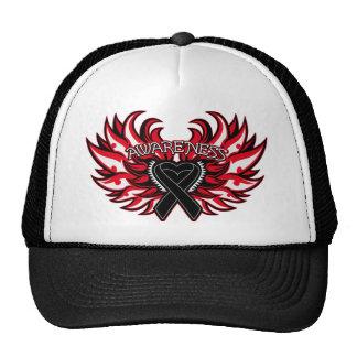 Melanoma Awareness Heart Wings.png Trucker Hat