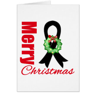 Melanoma Awareness Merry Christmas Ribbon Cards