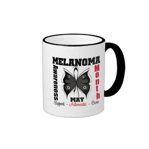 Melanoma Awareness Month Grunge Butterfly Mug