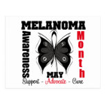 Melanoma Awareness Month Grunge Butterfly Post Card