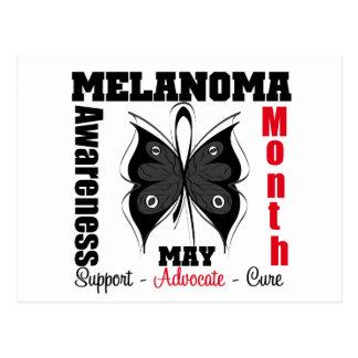 Melanoma Awareness Month Grunge Butterfly Postcard