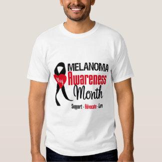 Melanoma Awareness Month Grunge Ribbon Shirt
