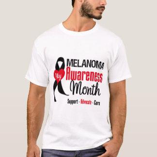 Melanoma Awareness Month Grunge Ribbon T-Shirt