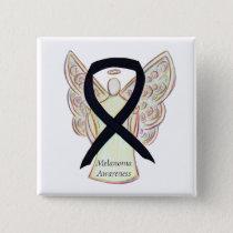 Melanoma Awareness Ribbon Angel Custom Pin