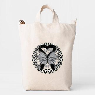 Melanoma Awareness Ribbon Butterfly Duck Canvas Bag