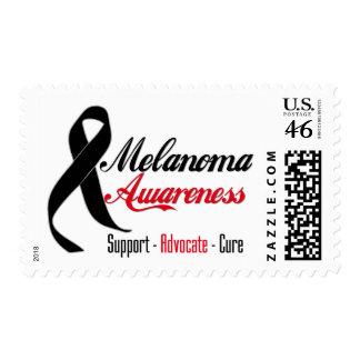 Melanoma Awareness Ribbon Stamps