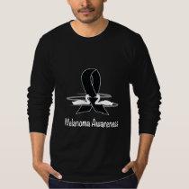 Melanoma Awareness Ribbon with Swans T-Shirt