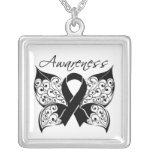 Melanoma Awareness Tattoo Butterfly Custom Jewelry