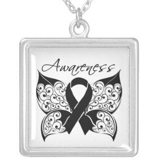 Melanoma Awareness Tattoo Butterfly Custom Jewelry