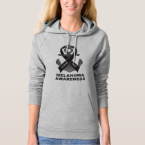 Melanoma Awareness: with Ribbon and Anchor of Hope Hoodie