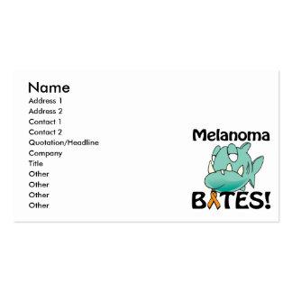 Melanoma BITES (orange) Business Card