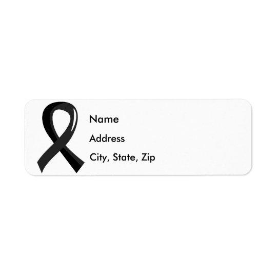 Melanoma Black Ribbon 3 Label