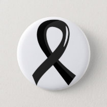 Melanoma Black Ribbon 3 Pinback Button