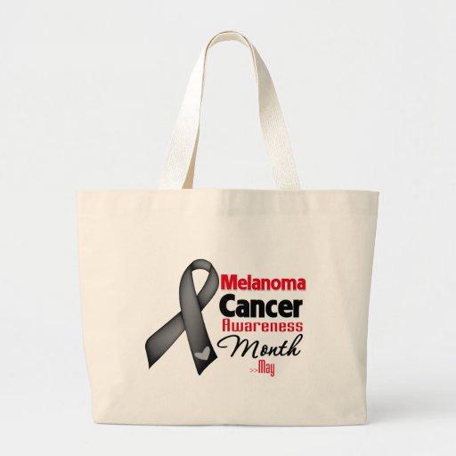 Melanoma Cancer Awareness Month Canvas Bags