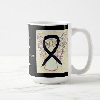 Melanoma Cancer Awareness Ribbon Angel Custom Mug