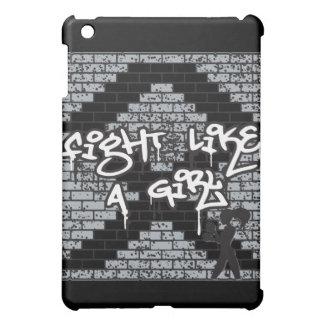 Melanoma Cancer Graffiti Wall Fight Like A Girl iPad Mini Cover