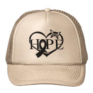 Melanoma Cancer Hope Butterfly Heart Décor Trucker Hat