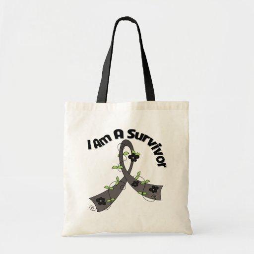 Melanoma Cancer I Am A Survivor Tote Bags