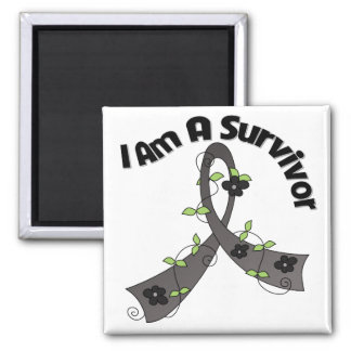 Melanoma Cancer I Am A Survivor 2 Inch Square Magnet