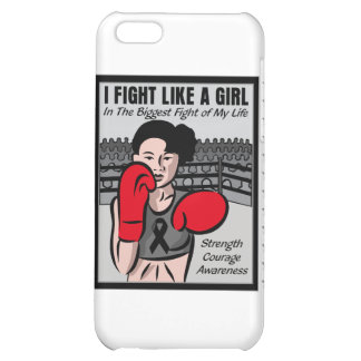 Melanoma Cancer I Fight Like A Girl Battle Cover For iPhone 5C