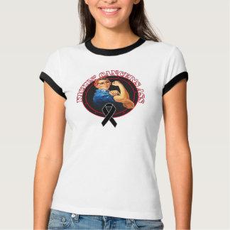 Melanoma Cancer Kickin Ass Rosie Style T-Shirt