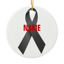 Melanoma Cancer Memorial Ceramic Ornament