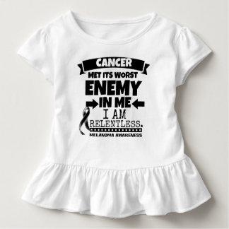 Melanoma Cancer Met Its Worst Enemy in Me Toddler T-shirt