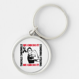 Melanoma Cancer Standing Strong We Can Do It Key Chain