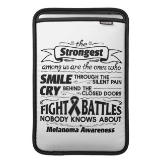 Melanoma Cancer Strongest Among Us MacBook Sleeve