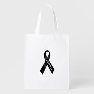 Melanoma Cancer Survivor Bag Grocery Bag