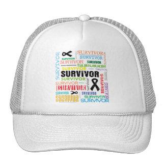 Melanoma Cancer Survivor Collage.png Trucker Hat