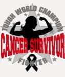 Melanoma Cancer Tough Cancer Survivor Tee Shirt