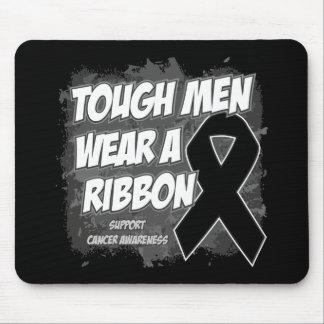 Melanoma Cancer Tough Men Wear A Ribbon Mousepads