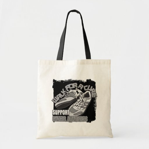 Melanoma Cancer Walk For A Cure Shoes Tote Bag