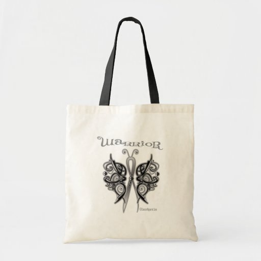 Melanoma Cancer Warrior Celtic Butterfly Tote Bags