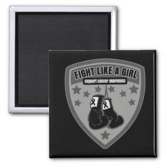 Melanoma Cancer Wear Fight Like A Girl Patch Magnet