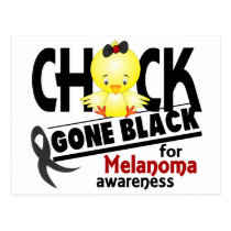 Melanoma Chick Gone Black 2 Postcard