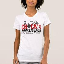 MELANOMA Chick Gone Black T-Shirt
