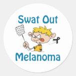 Melanoma Classic Round Sticker