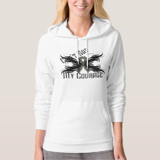 Melanoma Courage Ladies Hoodie