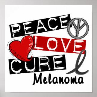 Melanoma de la curación del amor de la paz poster