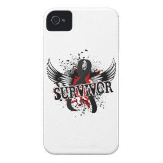 Melanoma del superviviente 16 iPhone 4 Case-Mate protectores