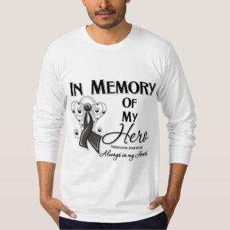 Melanoma en memoria de mi héroe remeras