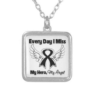 Melanoma Every Day I Miss My Hero Custom Necklace