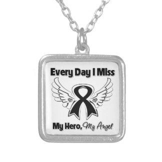 Melanoma Every Day I Miss My Hero Pendant